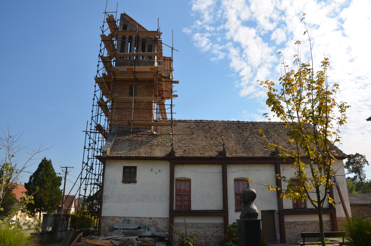 Repairing Lutheran Church in Ilok, Croatia